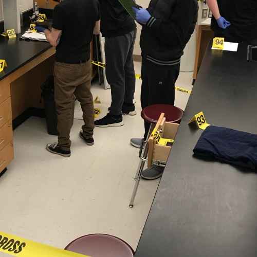 Mock Crime Scene Pictures