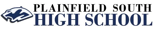 Plainfield South High School logo centered