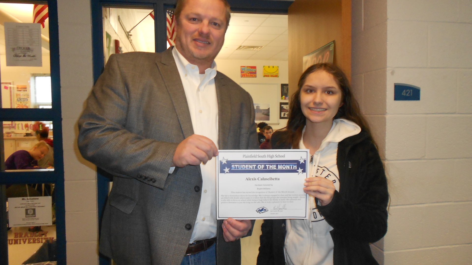 Student of the Month Alexis Calascibetta