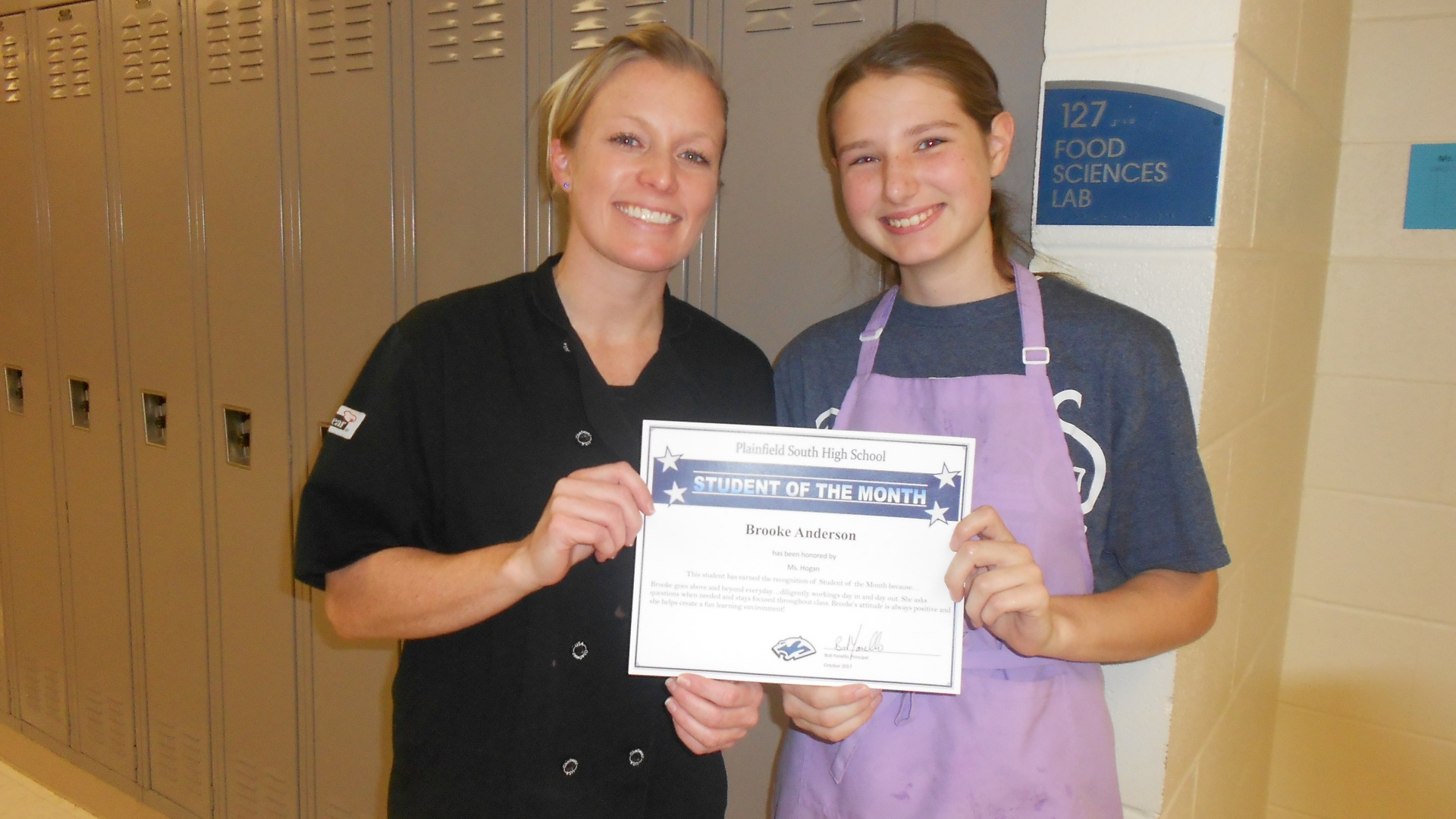Student of the Month Brooke Anderson