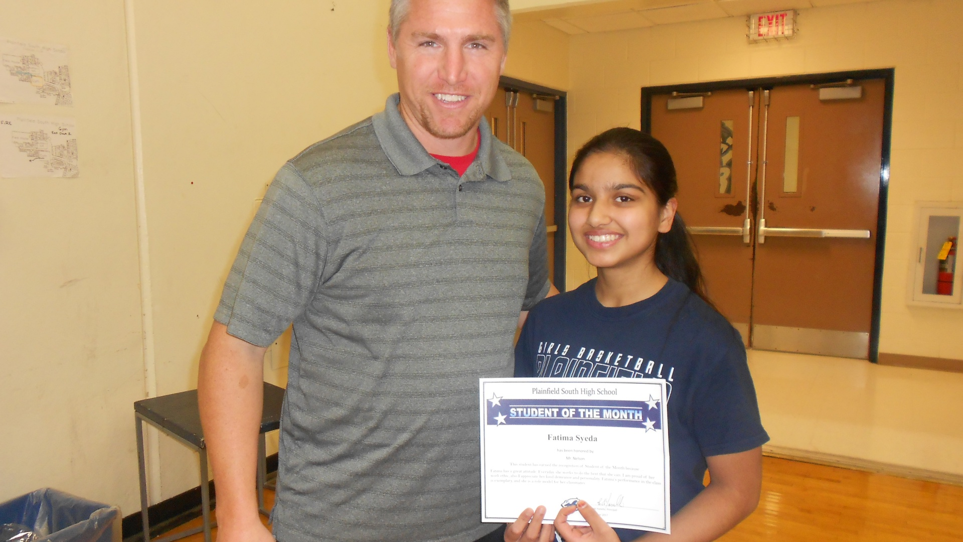 Student of the Month Fatima Syeda