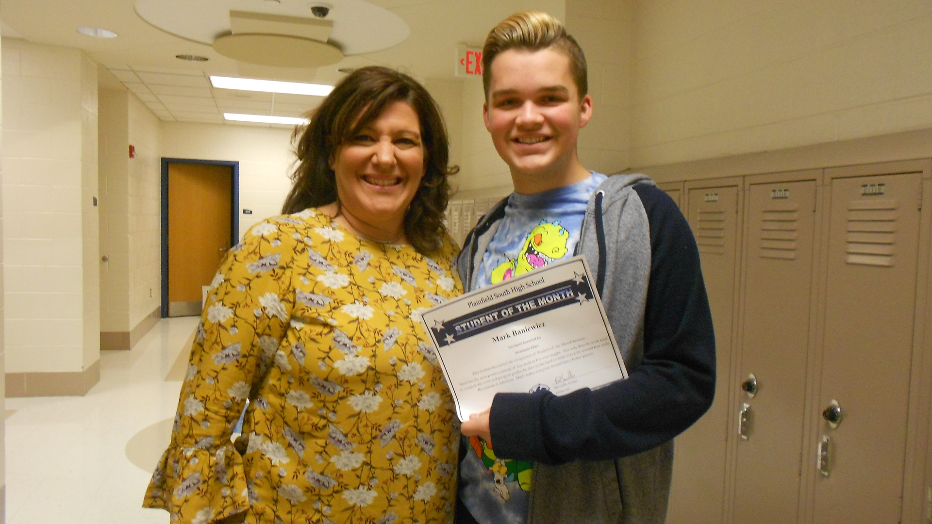 Student of the Month Mark Baniewicz